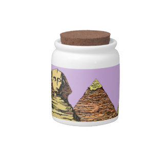 Sphinx and a Pyramid Candy Dish
