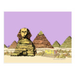 Sphinx and a Pyramid Postcard