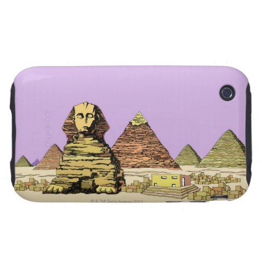 Sphinx and a Pyramid Tough iPhone 3 Cover