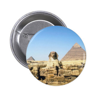 Sphinx and Pyramid 2 Inch Round Button