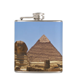 Sphinx And Pyramid Hip Flask