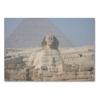 Sphinx and Pyramid in Egypt Table Number
