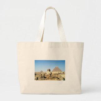 Sphinx and Pyramid Jumbo Tote Bag