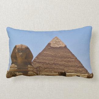 Sphinx And Pyramid Lumbar Pillow