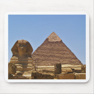 Sphinx And Pyramid Mouse Pad