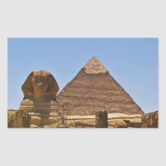 Sphinx And Pyramid Rectangular Sticker