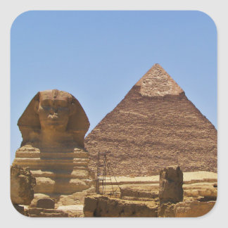 Sphinx And Pyramid Square Sticker
