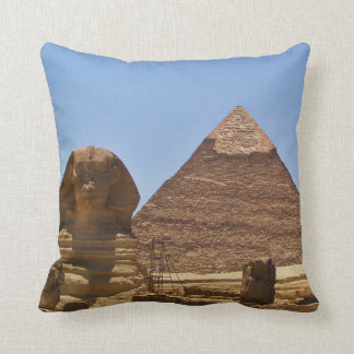 Sphinx And Pyramid Throw Pillow