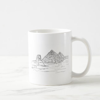 sphinx and pyramids of Egypt Coffee Mug