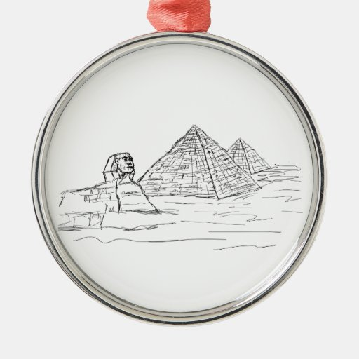 sphinx and pyramids of Egypt Christmas Tree Ornament