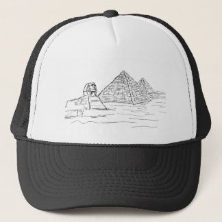 sphinx and pyramids of Egypt Trucker Hat