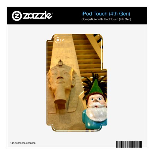 Sphinx and Sam Skin For iPod Touch 4G
