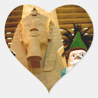 Sphinx and Sam Heart Sticker
