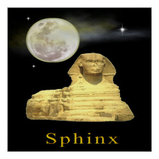 sphinx at nght poster