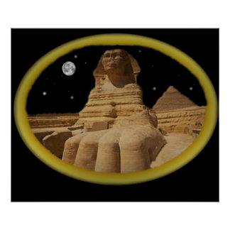 sphinx at night poster