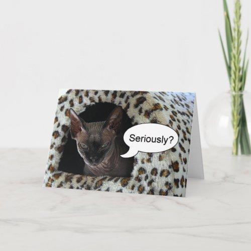 Sphinx Cat Birthday Humor Card