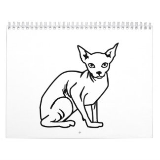 Sphinx cat calendar