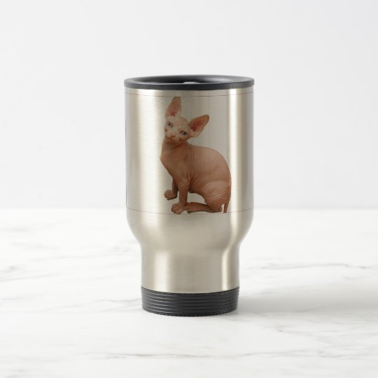 Sphinx cat travel mug