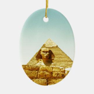 sphinx ceramic ornament
