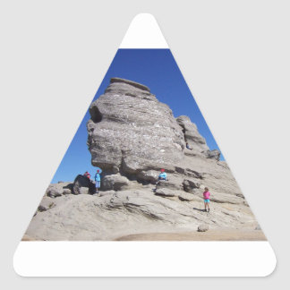 Sphinx from Bucegi Mts Romania cool megalith Triangle Stickers