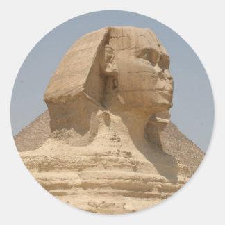 sphinx giza classic round sticker