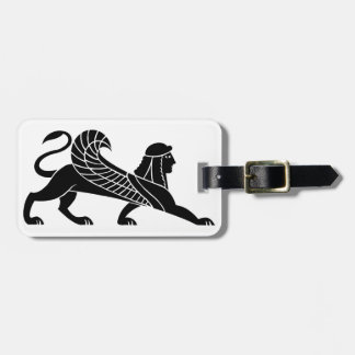 Sphinx, Greek relief design Bag Tag