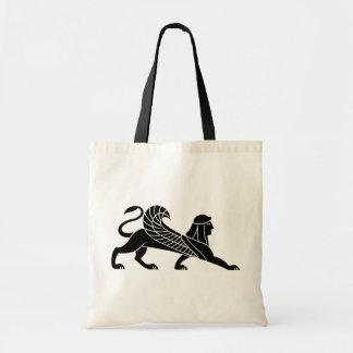 Sphinx, Greek relief design Tote Bag