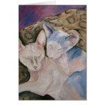 Sphinx Hairless kitty cat Greeting card