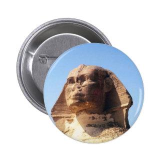 Sphinx Head 2 Inch Round Button