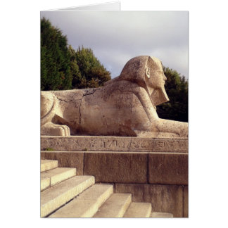 Sphinx in Crystal Palace, London Card