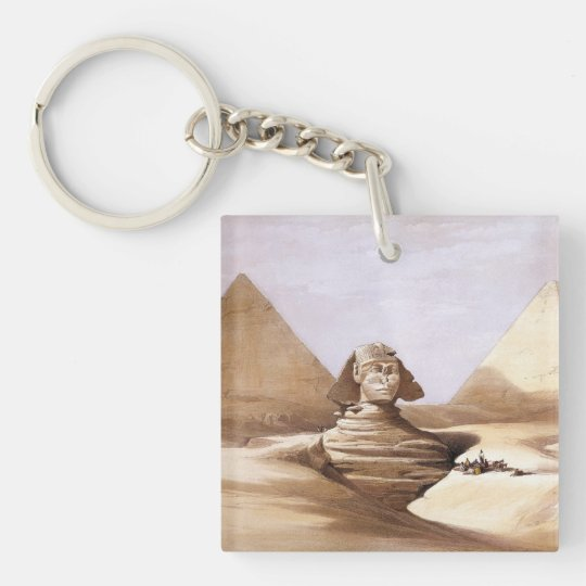 Sphinx in front of the pyramids keychain