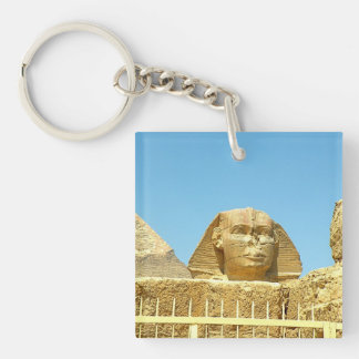 Sphinx Double-Sided Square Acrylic Keychain