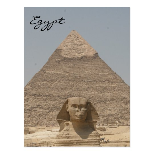 sphinx khafre egypt postcard