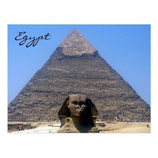 sphinx khafre post card