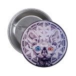 Sphinx Mandala Button