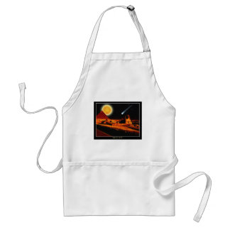 Sphinx & Moon over Egyptian Giza Pyramids Art Gift Adult Apron