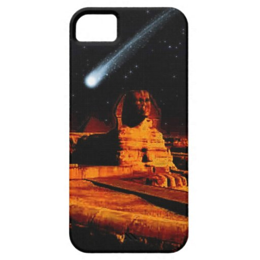 Sphinx & Moon over Egyptian Giza Pyramids Art Gift iPhone 5 Cases