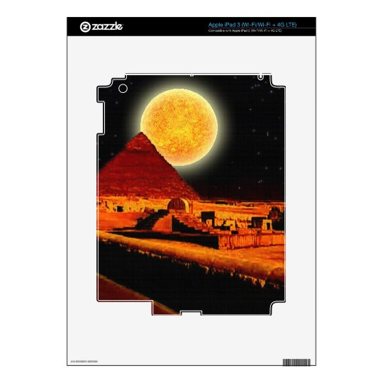 Sphinx & Moon over Egyptian Giza Pyramids Art Gift Decals For iPad 3