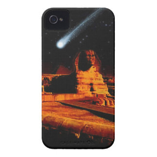 Sphinx & Moon over Egyptian Giza Pyramids Art Gift iPhone 4 Case