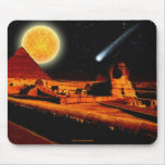 Sphinx & Moon over Egyptian Giza Pyramids Art Gift Mouse Pad