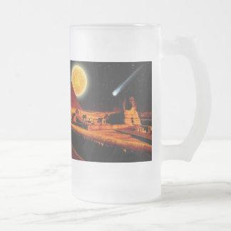 Sphinx & Moon over Egyptian Giza Pyramids Art Mug