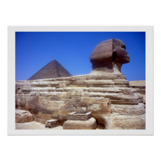 sphinx pyramid border poster