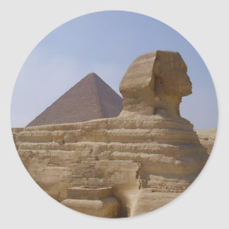 sphinx pyramid classic round sticker