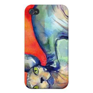 Sphinx sphynx cat #6 painting iPhone 4/4S cover