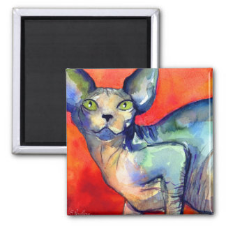 Sphinx sphynx cat #6 painting magnet