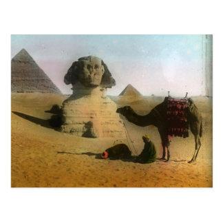 Sphnix y postal de la pirámide