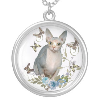 Sphynx and butterflies Necklace