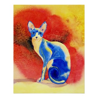 Sphynx Cat #1 Print print