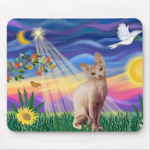 Sphynx Cat 1 - Twilight Mouse Mat