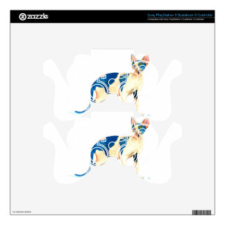 Sphynx Cat 5 Skin For PS3 Controller